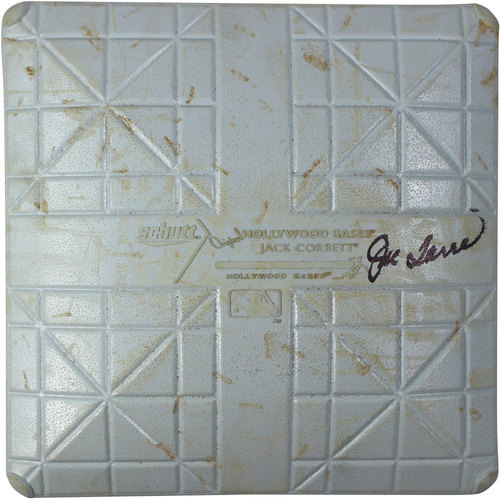 Photo of Joe Torre Signed White Sox at Yankees 8-23-2014 Game-Used Third Base (Innings 3-4) (MLB Auth)