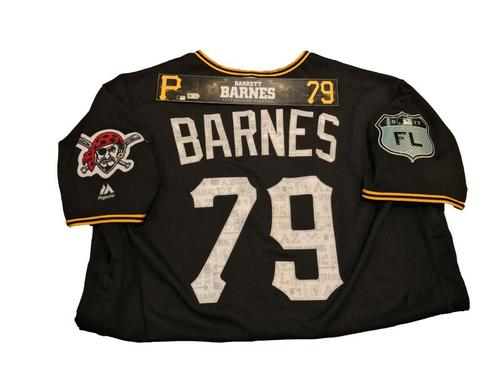 Photo of Barrett Barnes Game-Used Spring Training Jersey and Locker Name Plate