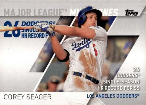 Photo of 2017 Topps Major League Milestones #MLM6 Corey Seager