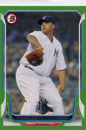 Photo of 2014 Bowman Green #51 CC Sabathia 124/150 -- Yankees post-season