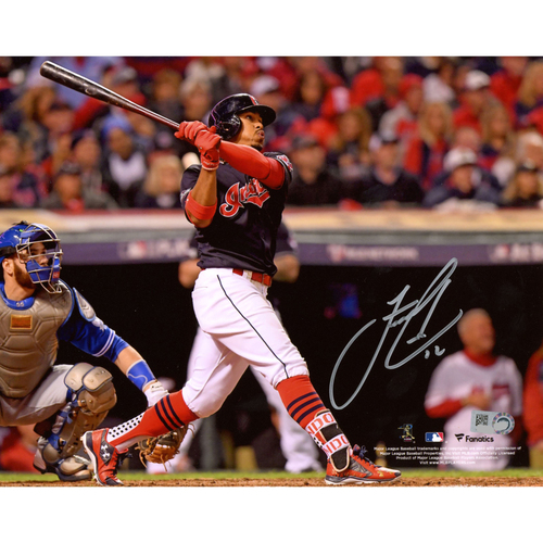 "Photo of Francisco Lindor Cleveland Indians Autographed 8"" x 10"" Hitting Photograph"