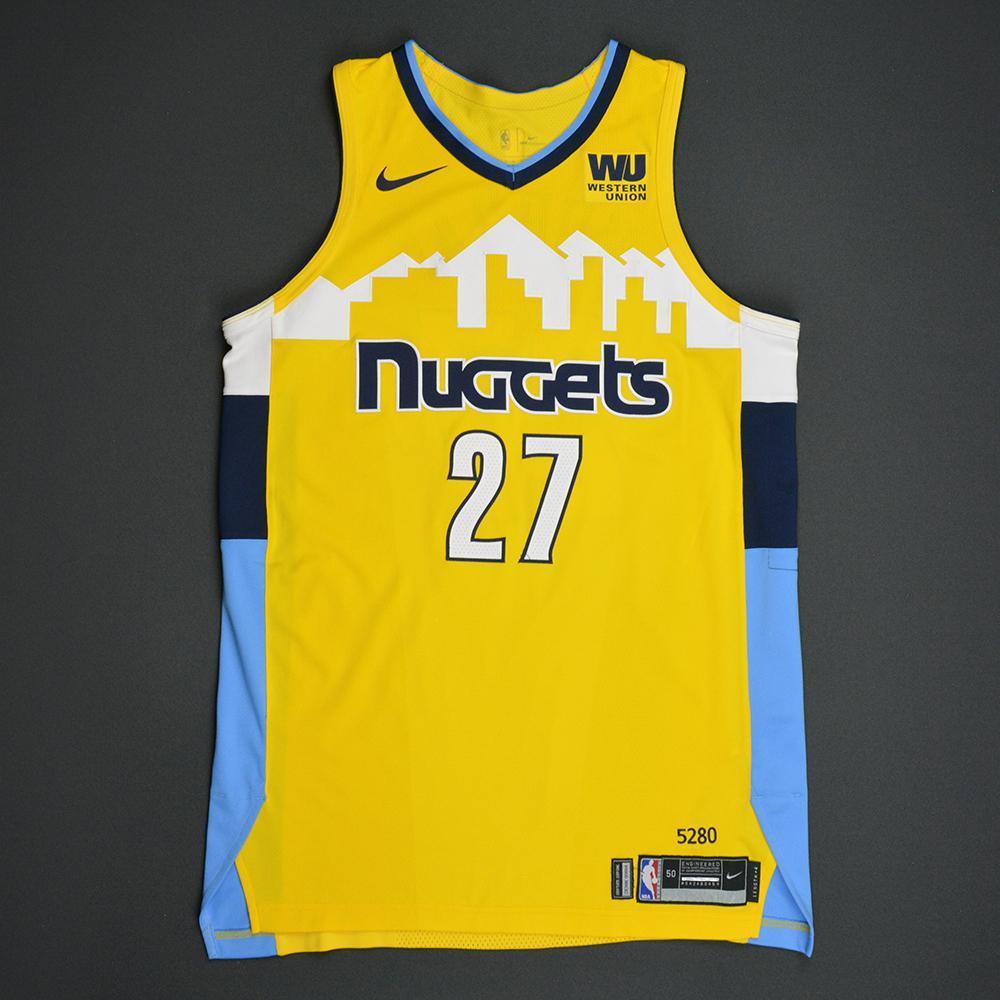 Jamal Murray - Denver Nuggets - Statement Game-Worn Jersey  - 2017-18 Season