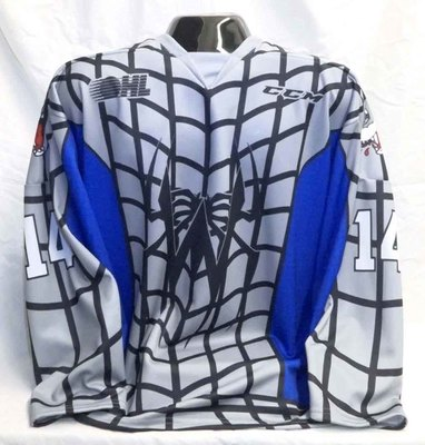 Macauley Carson Game Worn Spiderman Themed Jersey