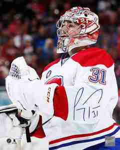 Carey Price - Signed 8x10 Montreal Canadiens - White Close-Up Photo