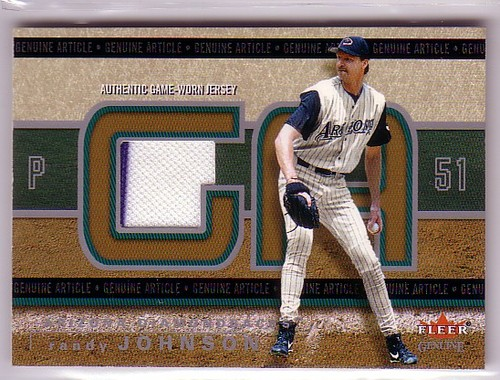 Photo of 2003 Fleer Genuine Article Insider Game Jersey #RJ Randy Johnson