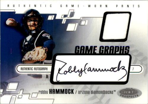 Photo of 2003 Hot Prospects #104 Rob Hammock Pants AU RC