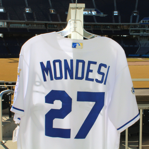 Photo of Raul Mondesi Game-Used Jersey (9/28/2016 - MIN at KC) (Size 44)