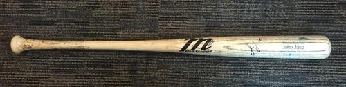 Photo of John Jaso Game-Used and Autographed Broken Bat