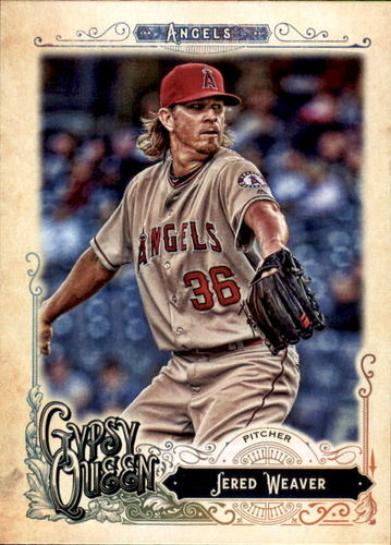 Photo of 2017 Topps Gypsy Queen #120 Jered Weaver