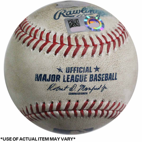 Photo of Royals at Yankees Game-Used Baseball 5/24/2017 (Top 5 - Salvador Perez - 2 - Ball, Top 5 - Salvador Perez - 3 - Ball, Top 5 - Salvador Perez - 4 - Foul, Top 5 - Salvador Perez - 5 - In play, out(s))
