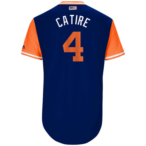 """Photo of Wilmer """"Catire"""" Flores New York Mets Game-Used Players Weekend Jersey"""