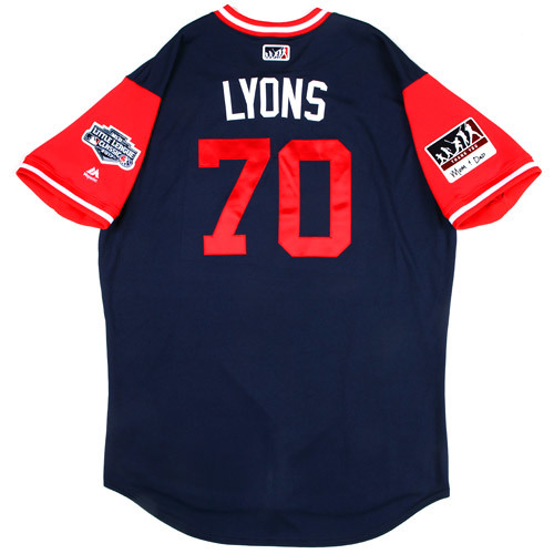 "Photo of St. Louis Cardinals Game-Used Little League Classic Jersey -  Tyler ""Lyons"" Lyons #70"