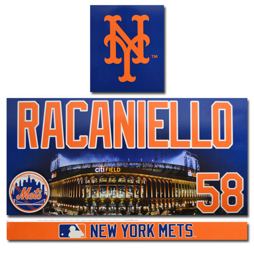 Photo of Dave Racaniello #58 - Game Used Locker Nameplate Set - 2017 Season