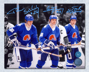 Stastny Brothers Peter Anton & Marian Triple Signed Quebec Nordiques 8x10 Photo