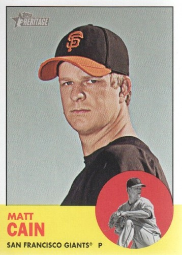 Photo of 2012 Topps Heritage #163 Matt Cain