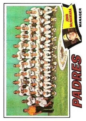 Photo of 1977 Topps #134 San Diego Padres CL/John McNamara MG
