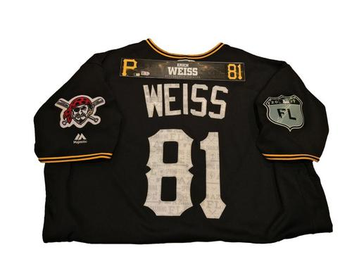 Photo of Erich Weiss Game-Used Spring Training Jersey and Locker Name Plate