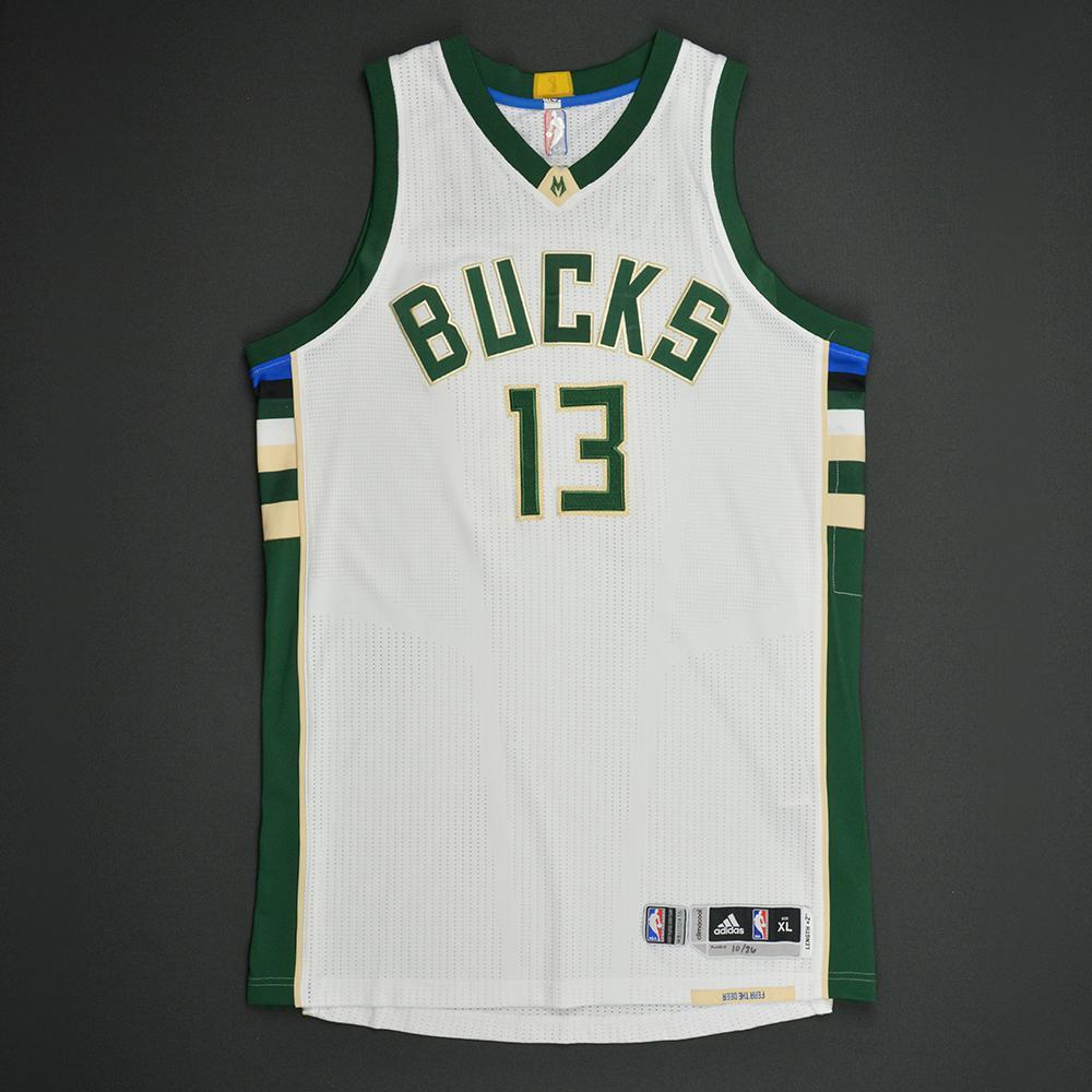 Malcolm Brogdon - Milwaukee Bucks - Game-Worn Rookie Debut Jersey (Rookie of the Year) - 2016-17 Season