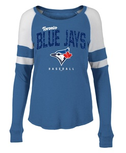 Toronto Blue Jays Women's Aislinn Scoop Raglan Longsleeve Shirt by 5th & Ocean