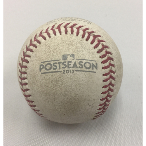 Photo of October 8, 2017 Astros at Red Sox ALDS Game 3 Game-Used Ball
