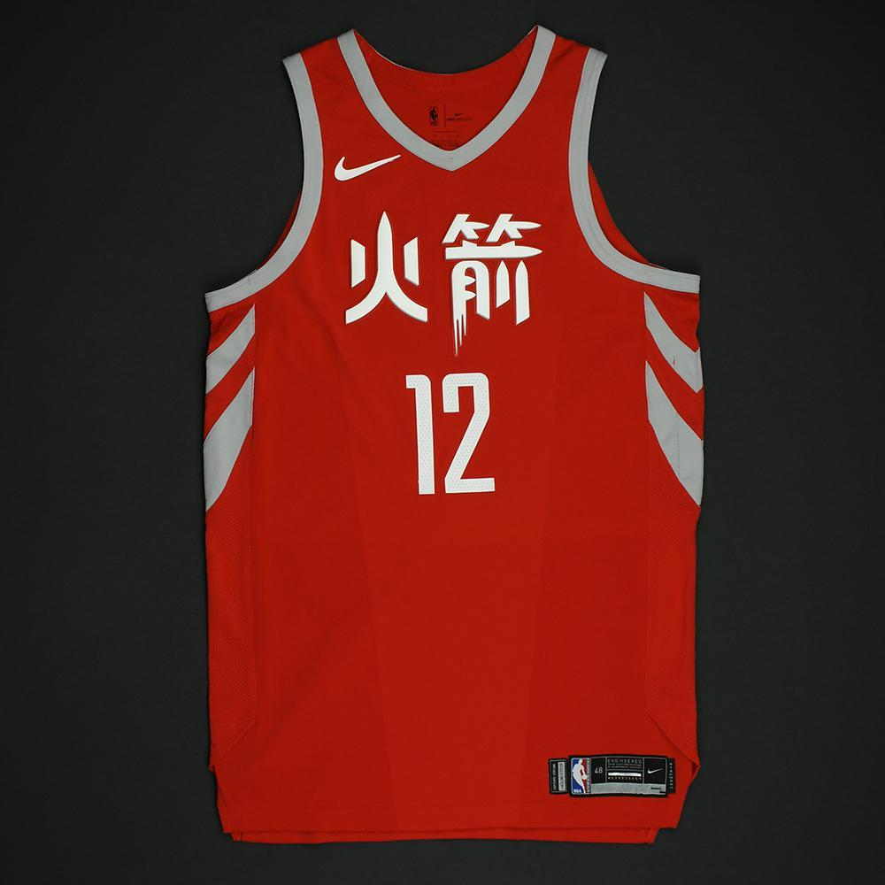 Luc Mbah a Moute - Houston Rockets - Game-Worn 'City' Chinese New Year Jersey -2017-18 Season