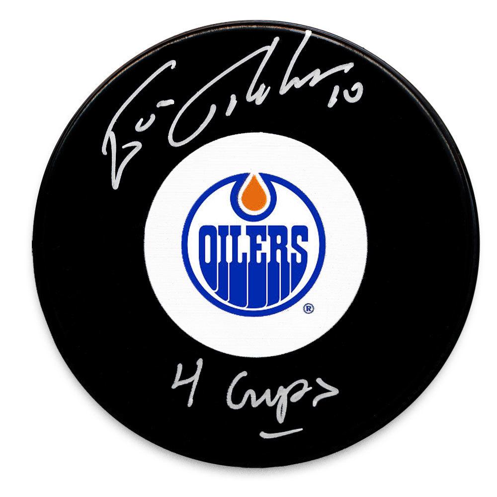 Esa Tikkanen Edmonton Oilers 4 Cups Autographed Puck