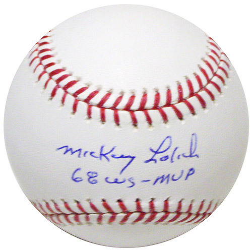 Photo of Detroit Tigers Mickey Lolich Autographed Baseball with 1968 WS/MVP Ins