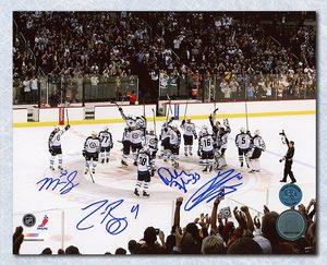 Winnipeg Jets Return Game 8x10 Signed By Byfuglien Pavelec Bogosian & Scheifele