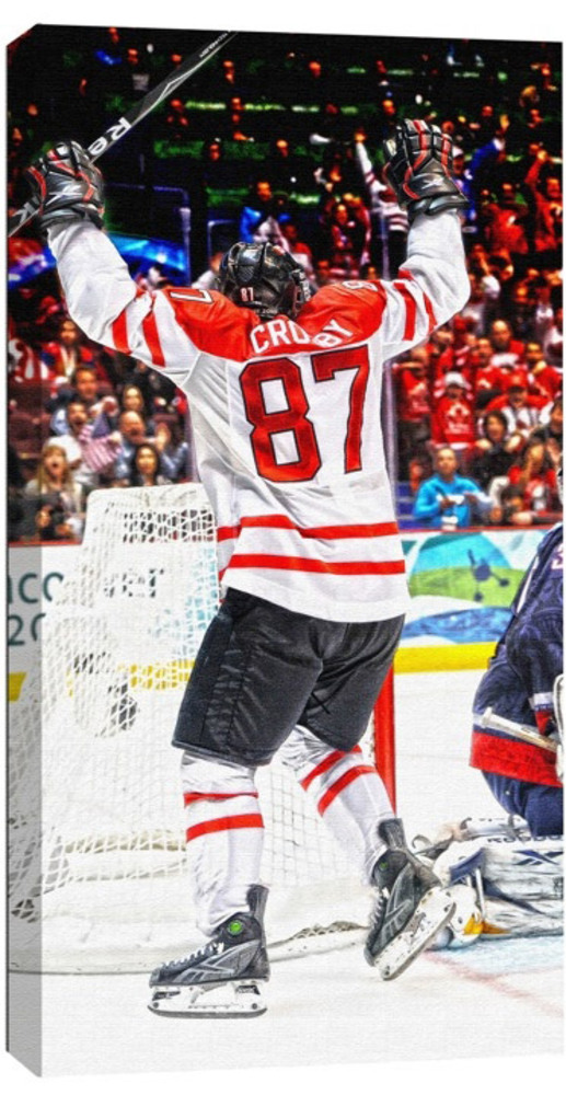 Sidney Crosby - 14x28 Canvas - Team Canada Golden Goal - SIDNEY CROSBY BIRTHDAY SPECIAL