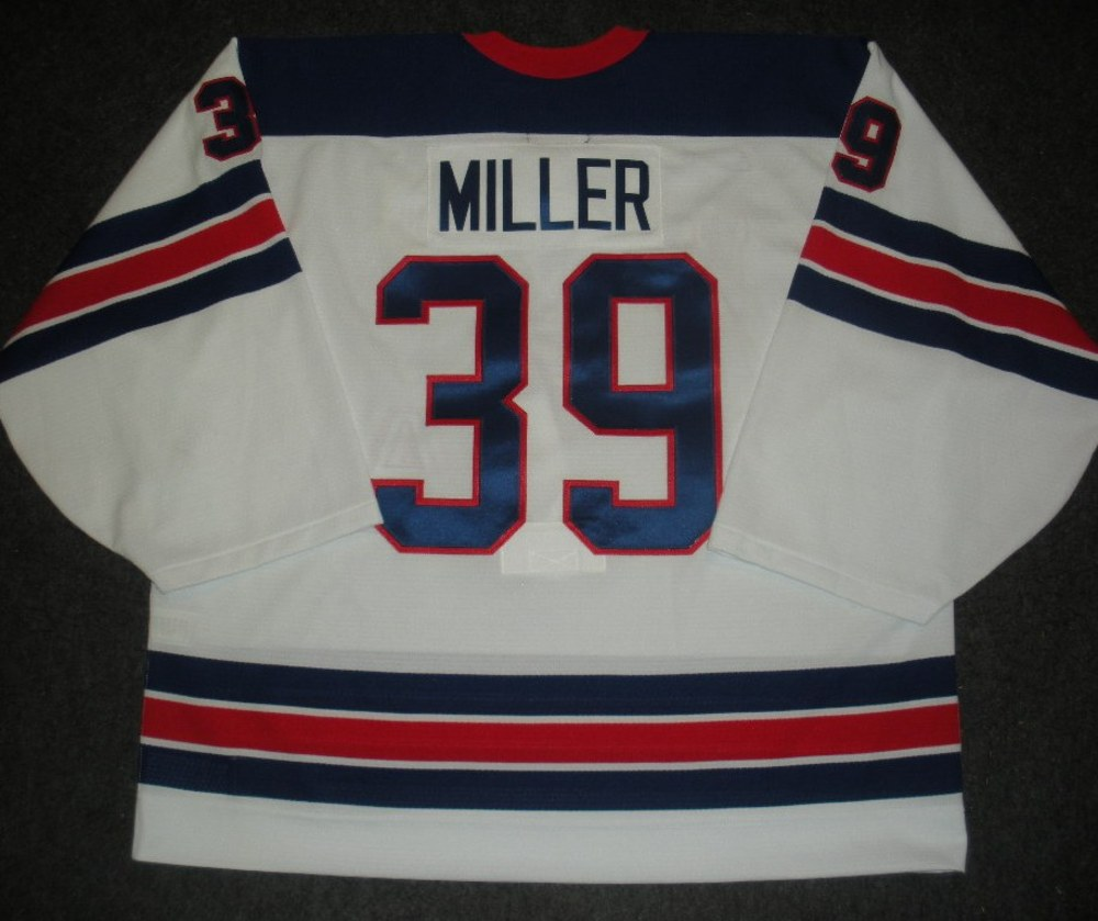 Ryan Miller - Sochi 2014 - Winter Olympic Games - Team USA Throwback Game-Worn Jersey - Worn in 2nd and 3rd Periods vs. Slovenia, 2/16/14