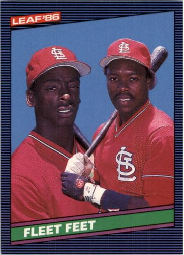 Photo of 1986 Leaf/Donruss #225 Vince Coleman/Willie McGee/Fleet Feet