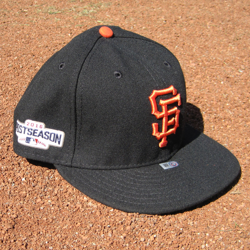 Photo of San Francisco Giants - Game-Used Postseason Cap - WC - Madison Bumgarner #40 (7 1/2) - Complete Game Shutout