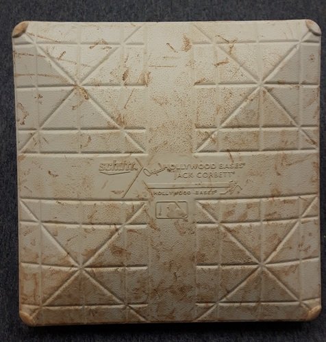 Photo of Authenticated Game Used Base - 3rd Base for Innings 1-3 vs Boston on July 2nd, 2017