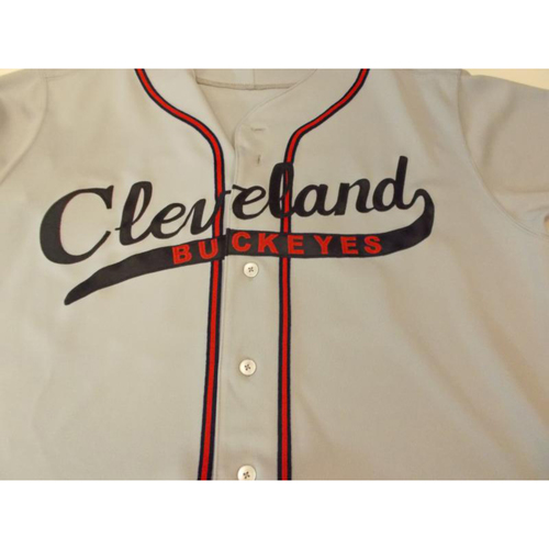 Photo of Game-Used Cleveland Buckeyes Jersey: Yan Gomes