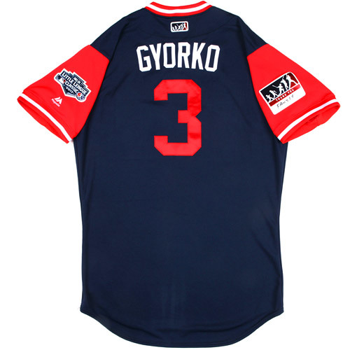"Photo of St. Louis Cardinals Game-Used Little League Classic Jersey -  Jedd ""Gyorko"" Gyorko #3"