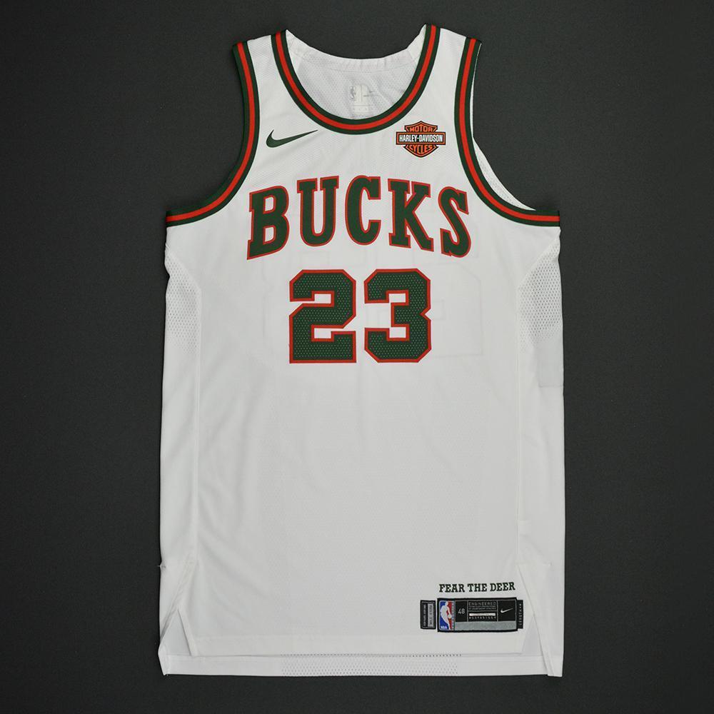 Sterling Brown - Milwaukee Bucks - Hardwood Classics 1968-69 Home Style Game-Worn Jersey - Dressed, Did Not Play - 2017-18 Season