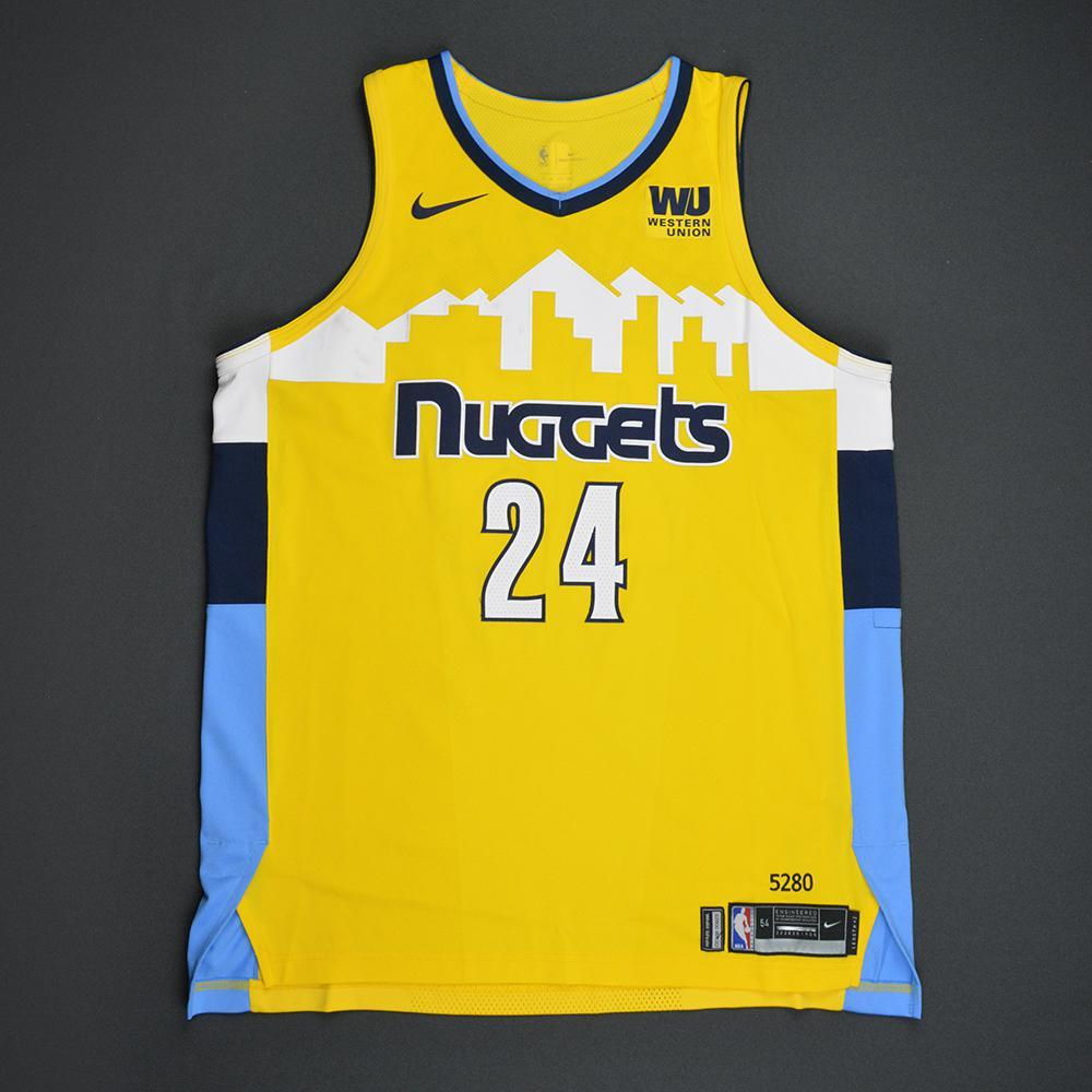 Mason Plumlee - Denver Nuggets - Statement Game-Worn Jersey  - 2017-18 Season
