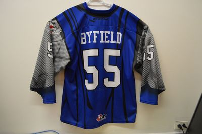 Quinton Byfield Game Worn Spiderman Themed Jersey