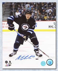 Nikolaj Ehlers Winnipeg Jets Autographed Rookie Action 8x10 Photo