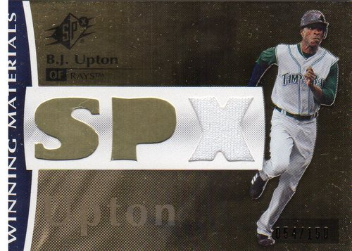 Photo of 2008 SPx Winning Materials SPx 150 #BU B.J. Upton