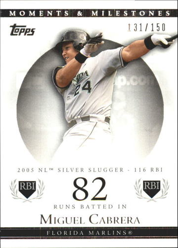 Photo of 2007 Topps Moments and Milestones #110-82 Miguel Cabrera/RBI 82