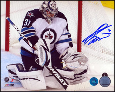 ONDREJ PAVELEC Winnipeg Jets SIGNED 16x20 Return to the NHL Photo