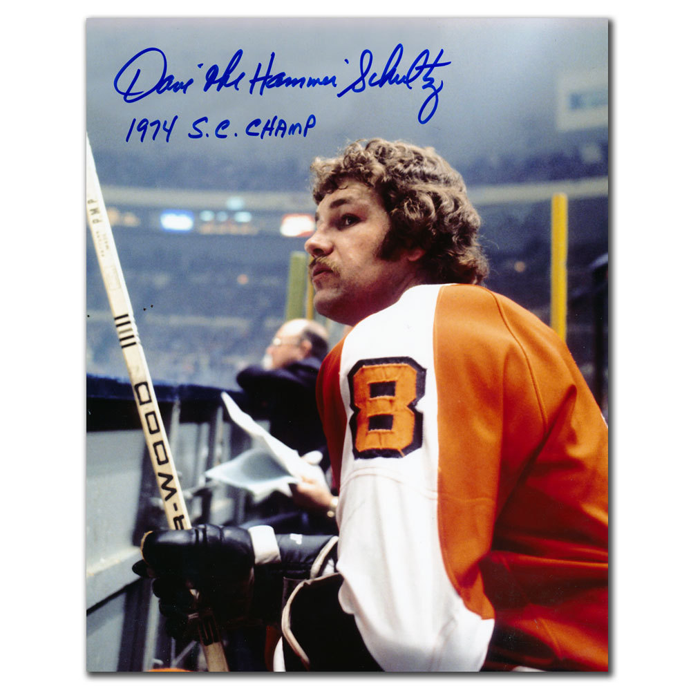 Dave Schultz Philadelphia Flyers Bench Autographed 8x10