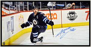 Andrew Ladd - Signed & Framed 14x28 Canvas - Winnipeg Jets Goal Celebration