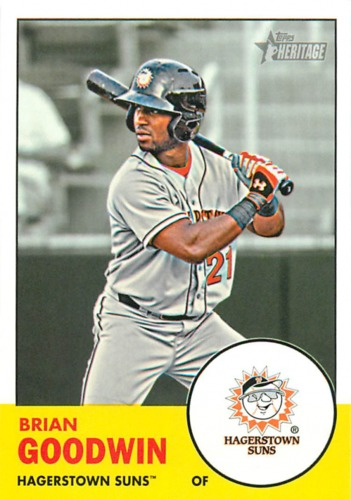 Photo of 2012 Topps Heritage Minors #183 Brian Goodwin -- Nationals post-season