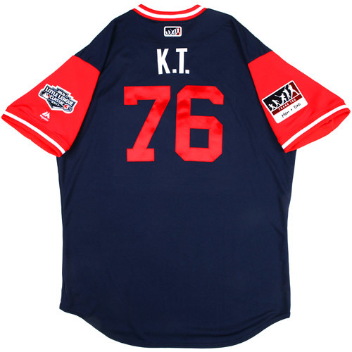 "Photo of St. Louis Cardinals Team-Issued Little League Classic Jersey -  Kleininger ""K.T"" Teran #76"