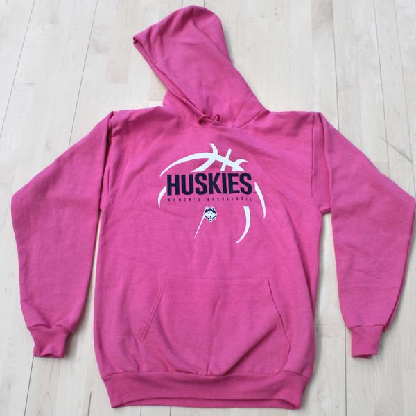 Pink Huskies Women's Basketball Sweatshirt Signed by Geno Auriemma - Size S