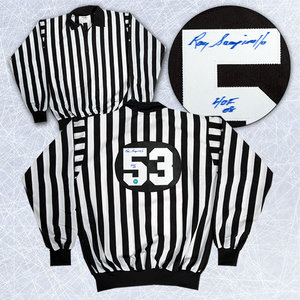 Ray Scapinello NHL Referee Autographed Referee Jersey