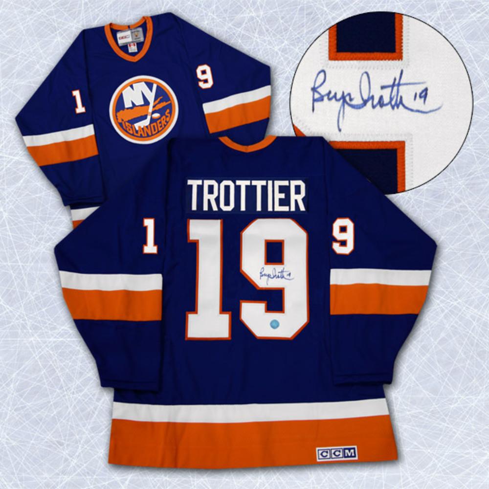 Bryan Trottier New York Islanders Autographed Retro CCM Hockey Jersey