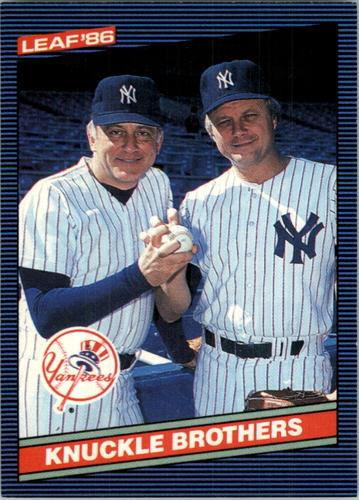 Photo of 1986 Leaf/Donruss #243 Phil Niekro/Joe Niekro/Knuckle Brothers